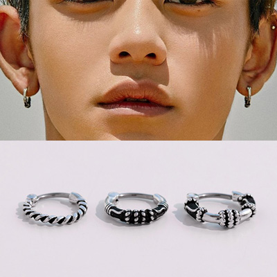 [UNISEX] NCT st. VINTAGE SURGICAL STEEL RING PIERCING (3type)