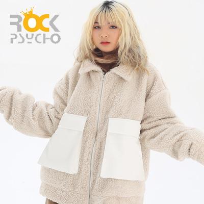 【ROCK PSYCHO】 BOA FUR CARGO JACKET -ivory
