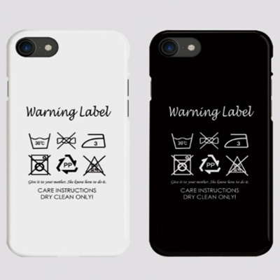 [UNISEX] WARNING LABEL CARE PHONE CASE (2color)