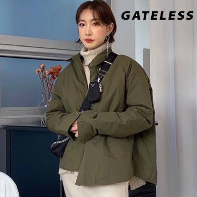【GATELESS】SIMPLE OVERSIZE PADDED SHIRTS (2color)