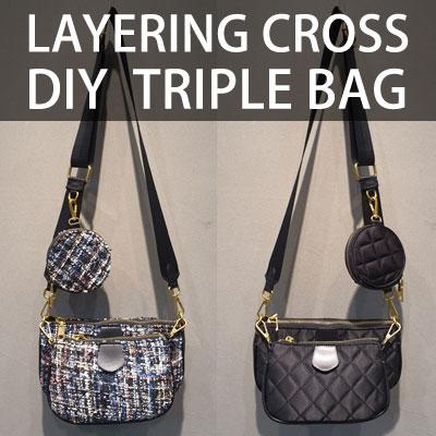 LAYERING CROSS DIY TRIPLE BAG