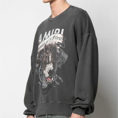 [UNISEX] ANGRY PITBULL DAMAGE SWEATSHIRTS