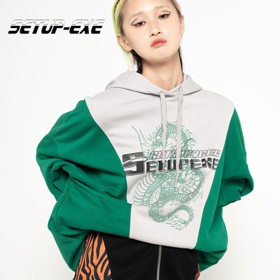 【SETUP-EXE】Cyber dragon Hood - green