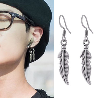 [UNISEX] X1 st. FEATHER DROP PIERCE (3type)