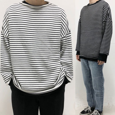 [UNISEX] SIMPLE STRIPE KNIT (2color)