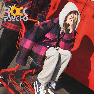 【ROCK PSYCHO】WOOL CHECK JACKET -pink