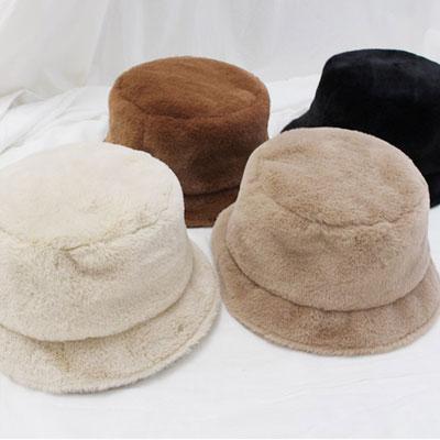 [UNISEX] WARM MINK SHORT BUCKET HAT (4color)