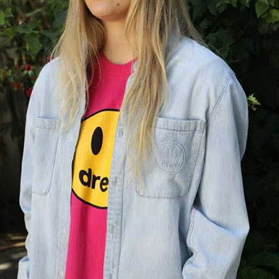 [UNISEX] POCKET SMILE POINT DENIM SHIRTS