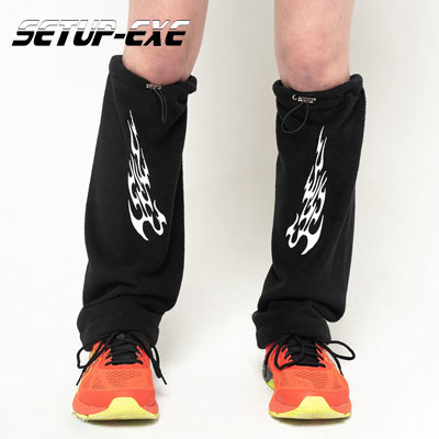 【SETUP-EXE】Fire fleece leg Warmer - black