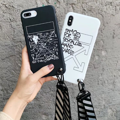 DOODLE ARROW STRAP iPhone CASE (2color)