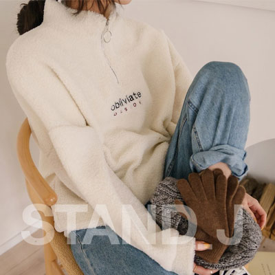 [STAND_J] BOUCLE ANORAK (3color)
