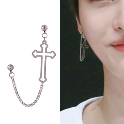 [UNISEX[ WANNAONE st. CHAIN LAYERED FUNKY PIERCING (4type)