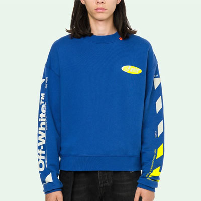 [UNISEX] YELLOW ARROW BLUE SWEATSHIRTS