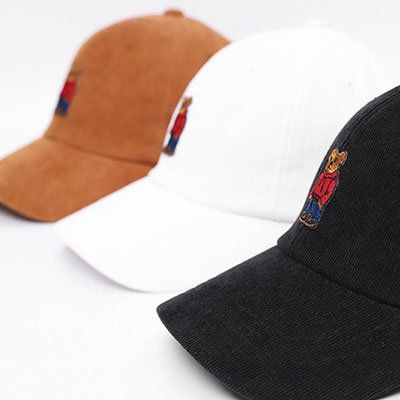 [UNISEX] BEAR FRIENDS CORDUROY BALL CAP (3color)