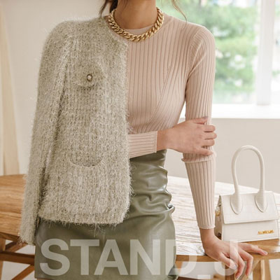 [STAND_J] TWEED CARDIGAN (2color)