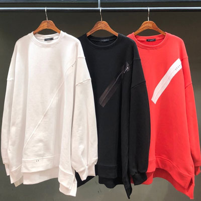 [UNISEX] CUTTING TAPE SWEATSHIRTS (3color)