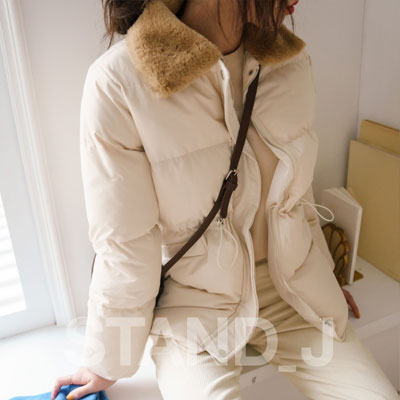 [STAND_J] FUR COLLAR WELLON JACKET (3color)