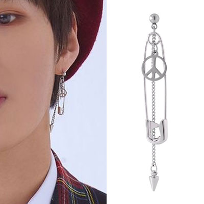 [UNISEX] WANNA ONE/Ha Sungwoon st. SAFETYPIN PEACE PIERCE (3type)