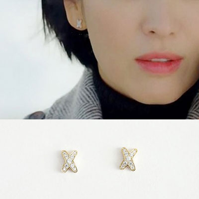 K-DRAMA [BOYFRIEND] Song Hyekyo st. MINI X 925 SILVER POST PIERCE (3color)