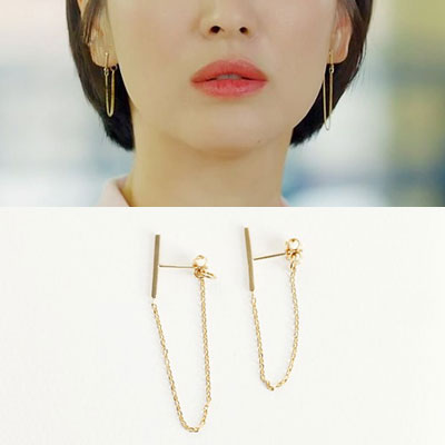 K-darama [Boyfriend] Song Hyekyo st. STICK UNBALANCE CHAIN 925 SILVER PIERCE (3color)