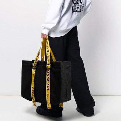 [UNISEX] YELLOW STRAP BIG TOTE BAG