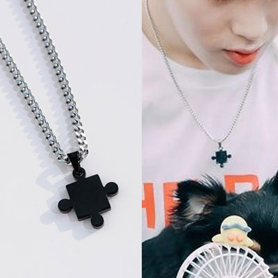 [UNISEX] WANNA ONE/HA Sunwoon st. PUZZLE PIECE NECKLACE (2color)