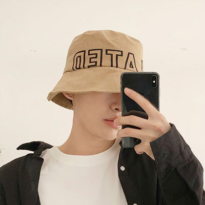 [UNISEX] ROUND LETTERING BUCKET HAT (3color)