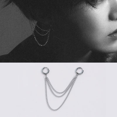 [UNISEX] BTS/J-hope st. TRIPLE LAYERED CHAIN PIERCE (3type)
