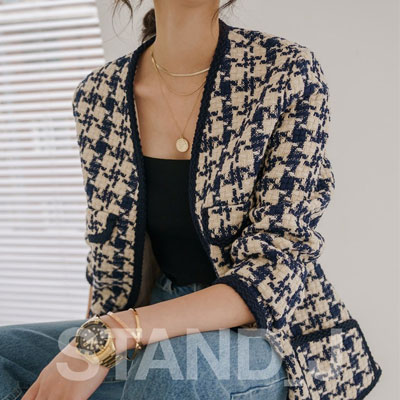 [STAND_J] MODERN TWEED JACKET (2size)