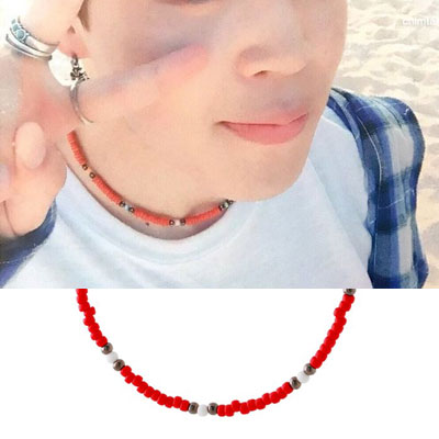 [UNISEX] BTS/Jimin st. RED BEADS BRACELET / NECKLACE