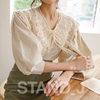 [STAND_J] LACE BLOUSE (3color)
