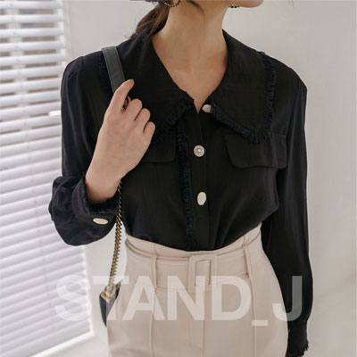 [STAND_J] COCO fringy BLOUSE (2color)