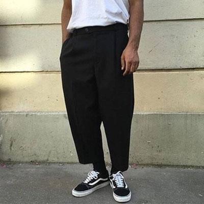 [UNISEX] WIDE CROP PANTS (2size)