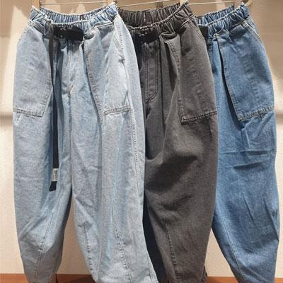 [UNISEX] BALLOON DENIM PANTS (3color)