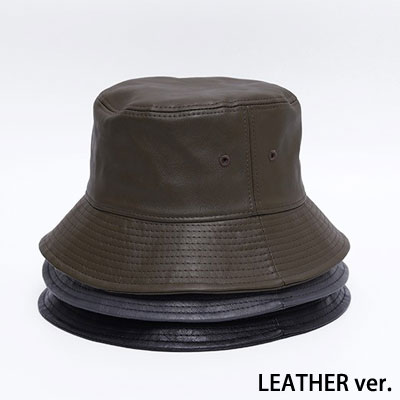 [UNISEX] LEATHER BUCKET HAT (3color)