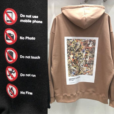 [UNISEX] GALLERY CAUTION HOODIE (2color)