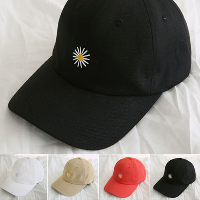 [UNISEX] DAISY EMBROIDERY BALL CAP (4color)