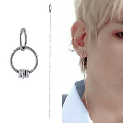 [UNISEX] EXO/Baek Hyun st. ROUND or CHAIN SURGICAL STEEL RING PIERCE (6type)