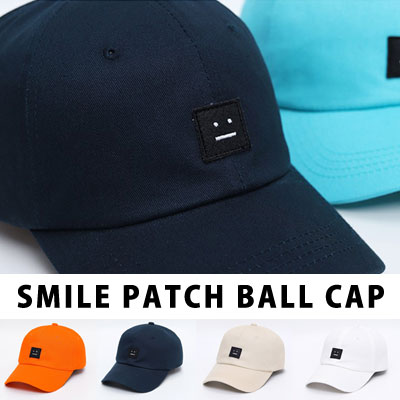 [UNISEX] SMILE PATCH BALL CAP (6color)