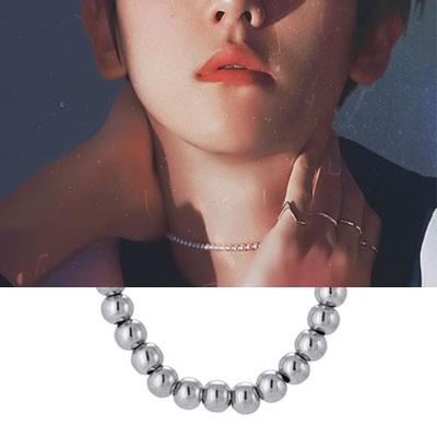 [UNISEX] EXO/Baek Hyun st. BALL LINE BRACELET&NECKLACE (2type)