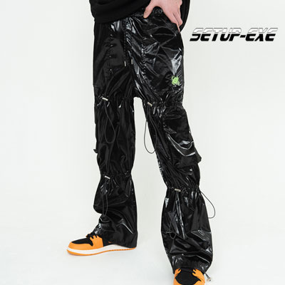 【SETUP-EXE】 Shirring Pt - black