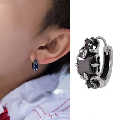 [UNISEX] NCT st. ANTIQUE ONE TOUCH RING PIERCE (2color)