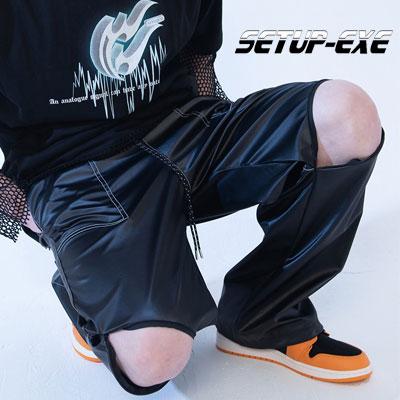 【SETUP-EXE】nee slit stitch Pt - black