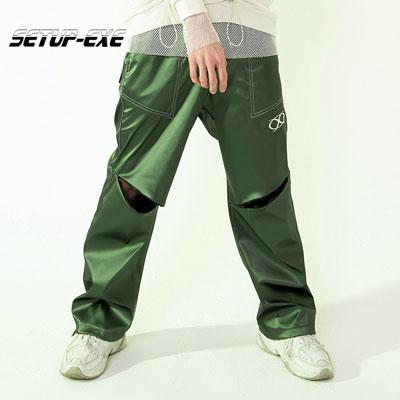 【SETUP-EXE】Knee slit stitch Pt - green
