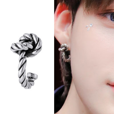 [UNISEX] THE BOYZ st. 925 SILVER TWIST ROPE KNOT PIERCE (1ea)