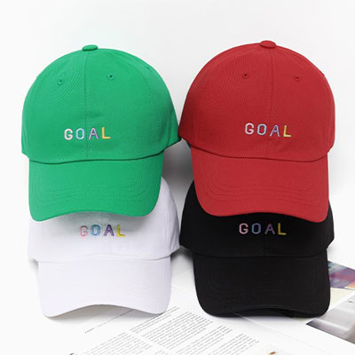 [UNISEX] GOAL EMBROIDERY BALL CAP (4color)