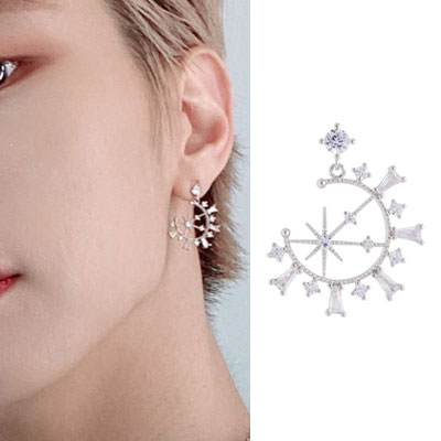 [UNISEX] VICTON st. CRYSTAL CUBIC PIERCE (2color 2type)