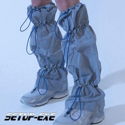 【SETUP-EXE】Shirring leg Warmer - grey