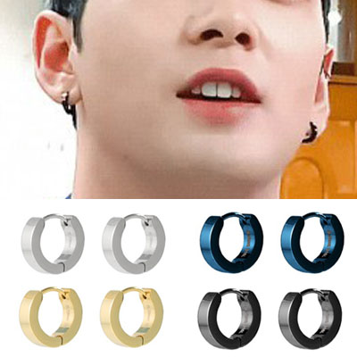 [UNISEX] NUEST/A.C.E st. SURGICAL STEEL BOLD ONE TOUCH PIERCE (4color 2type)