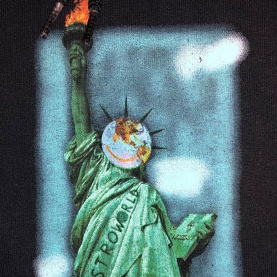 [UNISEX] EARTH FACE STATUE OF LIBERTY TSHIRT